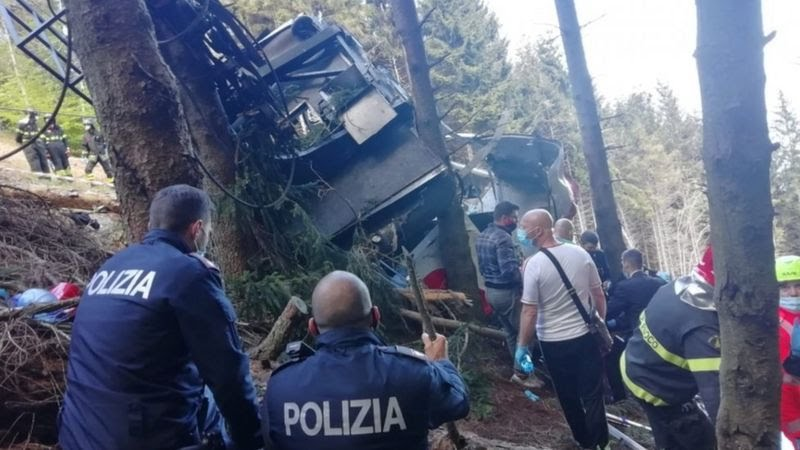 cable car crash in italy