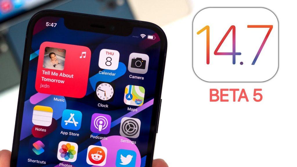 Beta 5 of iOS 14.7
